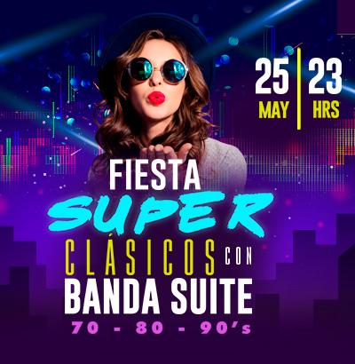 Fiesta Super Clásicos con Banda Suite
